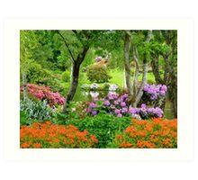 The Best Garden In NZ - Maple Glen - Southland Art Print