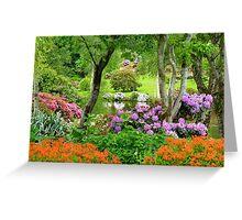 The Best Garden In NZ - Maple Glen - Southland Greeting Card