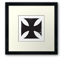 Iron cross in black. Framed Print