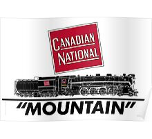 Canadian National Mountain Steam Locomotive Poster