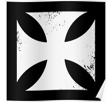 Iron cross in white. Poster