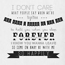 So Happily. by wallflowers