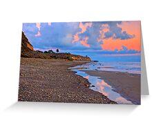 Tranquility. A section in Bacara Beach in Santa Barbara California Greeting Card