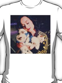 Katy With Her Kitty Kats T-Shirt