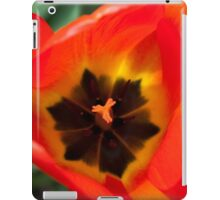 Anatomy of a Tulip: Orange Squared iPad Case/Skin