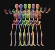 Rainbow Skeletons by Michael Coots