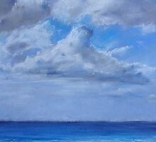 Clouds over sea by Amy Barnett