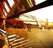 bridge reflection by Jackie Cooper