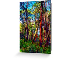 Psychedelic RainForest Series #4 - Yarra Ranges National Park , Marysville Victoria Australia Greeting Card