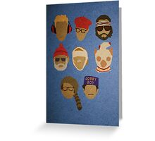 Wes Anderson's Hats Greeting Card