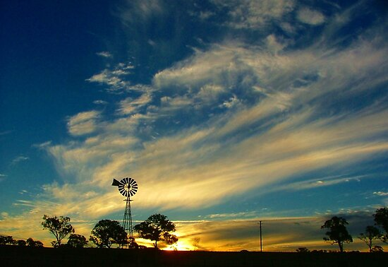 Rural Sunset  by pedroski