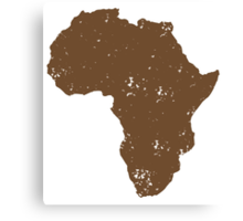 Map shape continent of AFRICA (distressed) Canvas Print