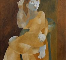 Young Woman in an Armchair by Joseph York