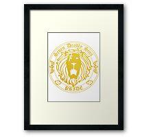Lion's Pride Back Framed Print