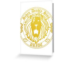 Lion's Pride Back Greeting Card