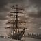 Tall Ships in Sepia