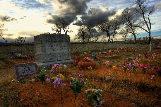 Chief Washakie's Grave by Merritt Brown III