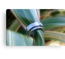 Forever United In Heart & Soul - Wedding Rings - NZ Canvas Print