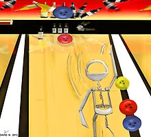 Corky's playing Bowling by Nornberg77