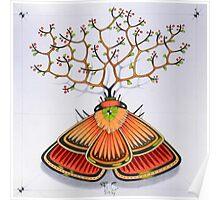 tree - moth Poster
