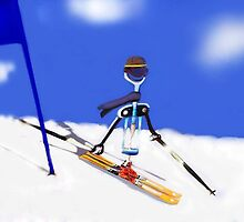Corky @ the slopes by Nornberg77