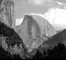 El Capitan & Half Dome  by Ray Rozelle