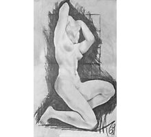 life nude drawing no.2 class  Photographic Print