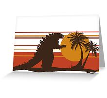 King of the Monsters - Radioactive Lizard Greeting Card