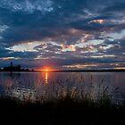 Sun Set Swan Bay by wazonthehill