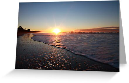 Seven Mile Beach Sunrise, Tasmania by David Jamrozik