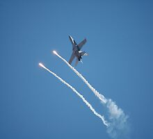F-18 - Flare Launch, Avalon International Airshow, Australia 2007 by muz2142