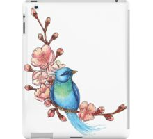 Blue Bird and blossoms iPad Case/Skin