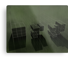 Cubic Progression Metal Print