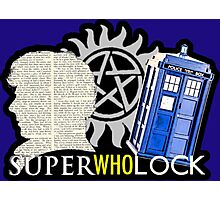 SuperWhoLock - Crossover MegaVerse Photographic Print