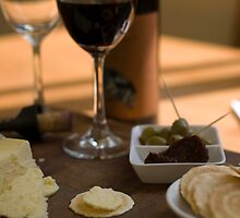 Red Wine & Cheese by Bradley Ede
