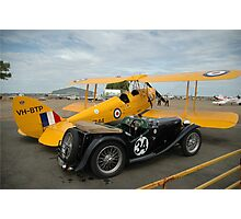 Two Classic Vehicles, Cunderdin Airshow, Australia 2005 Photographic Print