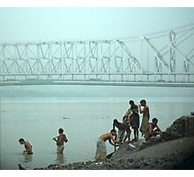 calcutta bridge Photographic Print