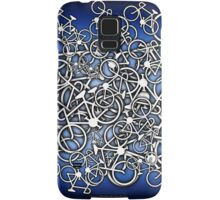 Tangled Up In Bicycles 2 - Blue Black fade Samsung Galaxy Case/Skin