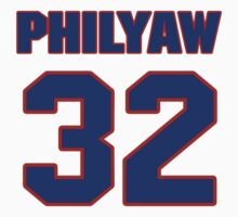 National football player Dino Philyaw jersey 32 by imsport