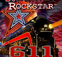Roanoke's Rockstar - Norfolk & Western #611 - T-Shirt Art by TrainmasterBob