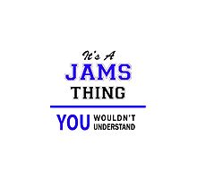 It's a JAMS thing, you wouldn't understand !! by thenamer