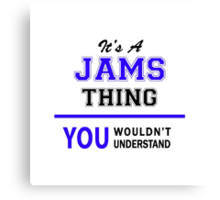 It's a JAMS thing, you wouldn't understand !! Canvas Print