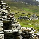 Famine House, Slievemore, Achill Island by Gwen Wordingham