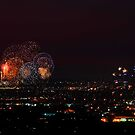 Australia Day Fireworks Over Perth by EOS20