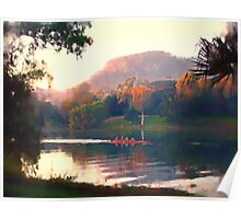 Autumn Rowers, Ross River. Poster