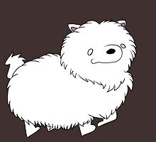 Badly Drawn Pups: Fluffy Pup by GottyKoby