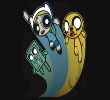 A mashup of Adventure Time and the Power Puff team by YogiStore