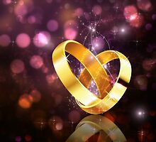 Romantic background with wedding rings 5 by AnnArtshock