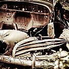 Vintage Abandoned Old Car In The Woods by MissDawnM