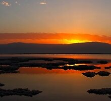 Sunrise over the Dead-Sea, Israel by PhotoStock-Isra